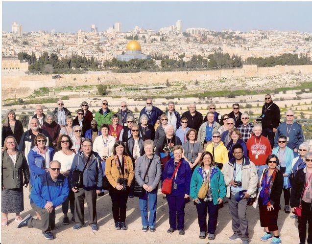 Standing on the Mount of Olives with Jerusalem in background
